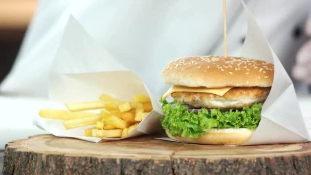 Rychlé občerstvení jídla, Dřevěná deska
