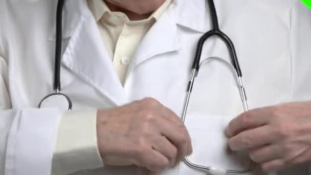 Zblízka lékaři fonendoskop