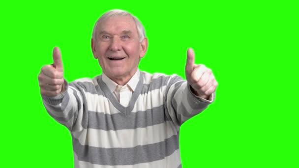 Elölnézete két thumps fel öreg ember.