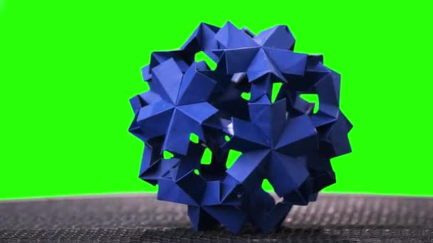Origami flower ball on green screen stock video denisfilm origami flower ball on green screen stock video mightylinksfo