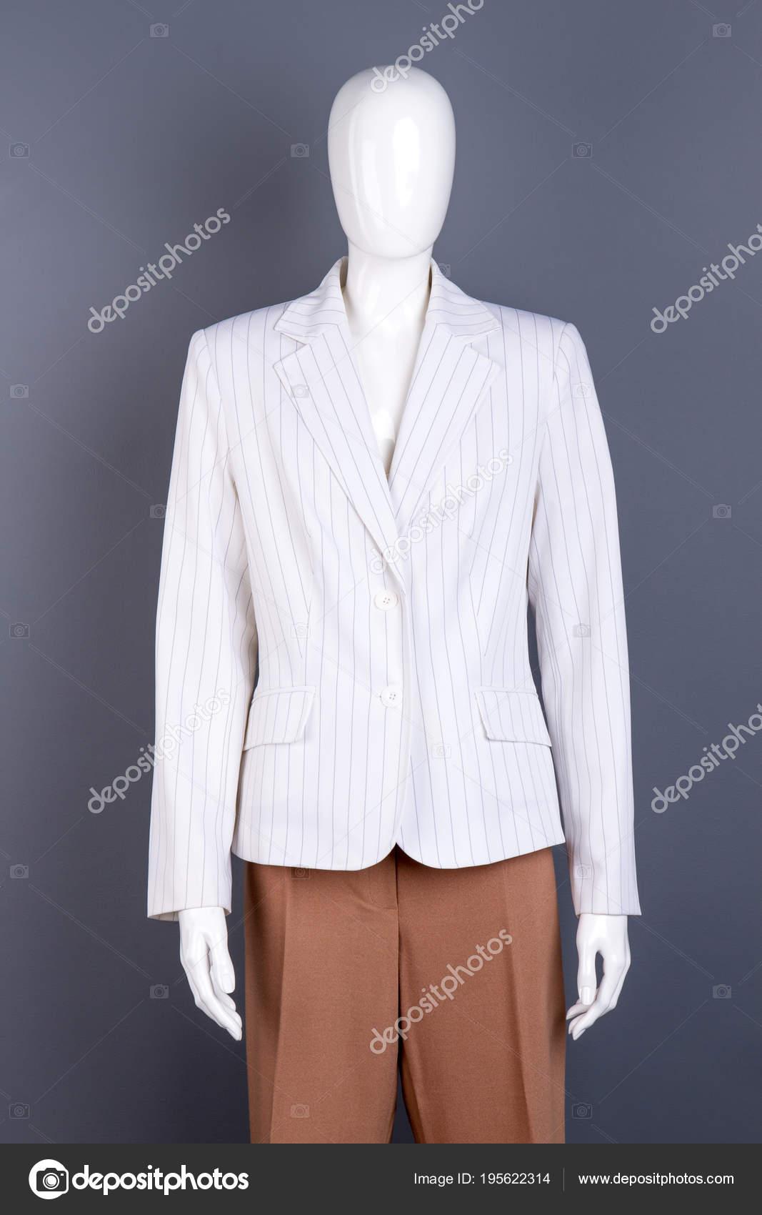 a femminile bianco in blazer righe Manichino q8wPU1wH