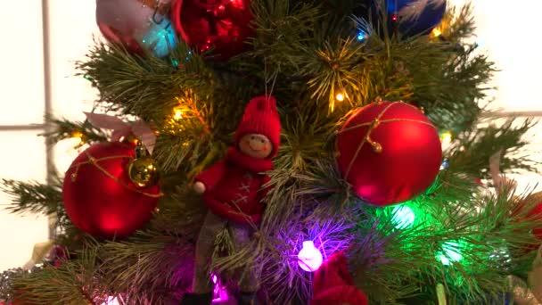New Year tree stylish decor.