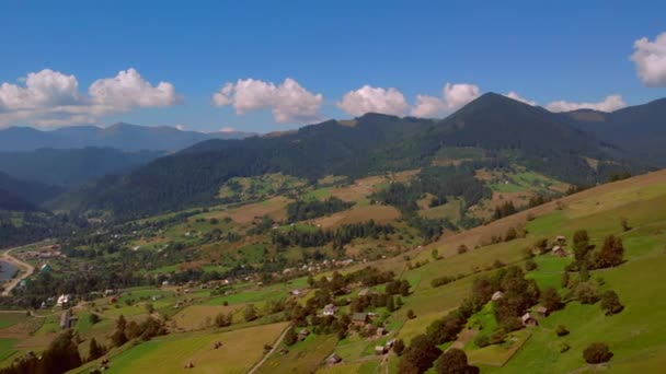 Beautiful mountain summer landscape, aerial view.
