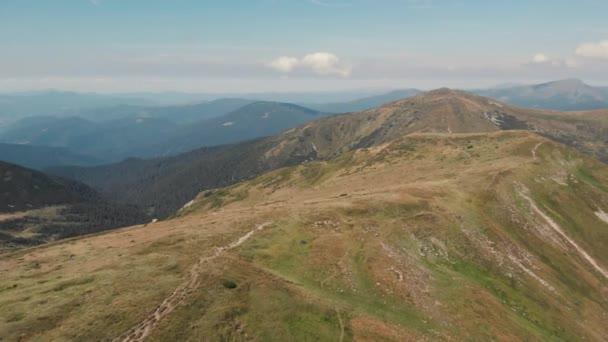 View of mountain ridge.