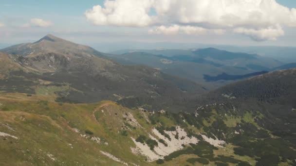 Mountains slopes landscape in summer.