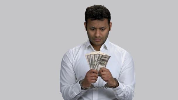 Corruption and bribery concept.