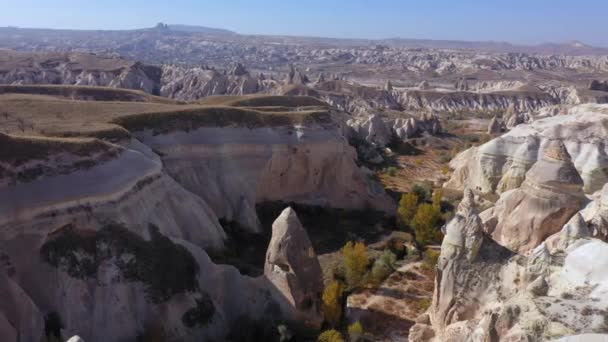 Aerial view of beautiful landscape with amazing rock formations.