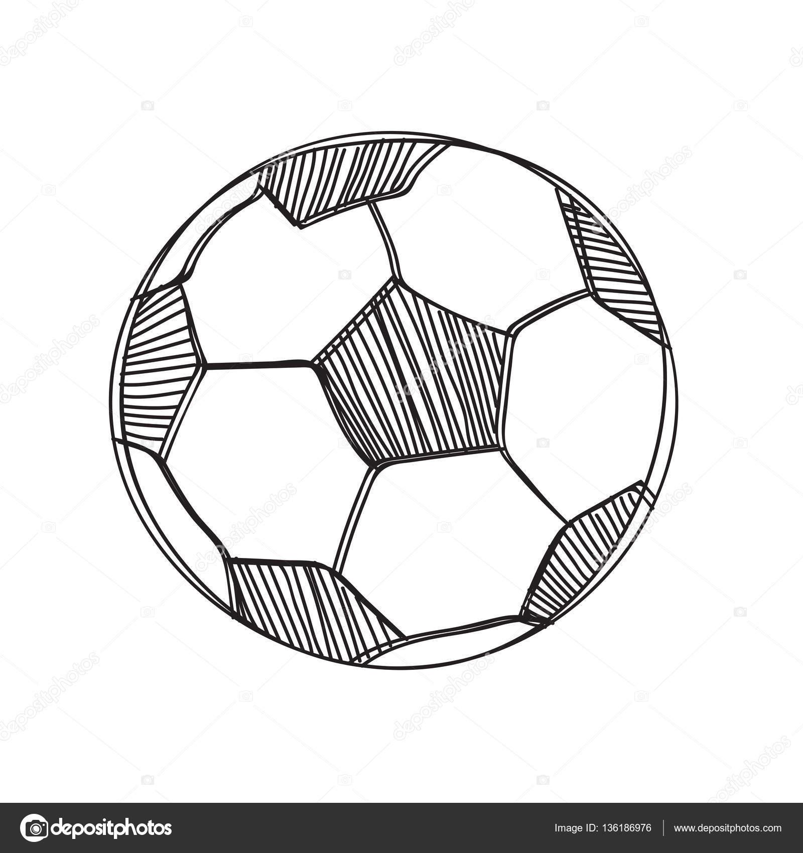 Hand Zu Zeichnen Fussball Ball Stockvektor C Madozi 136186976