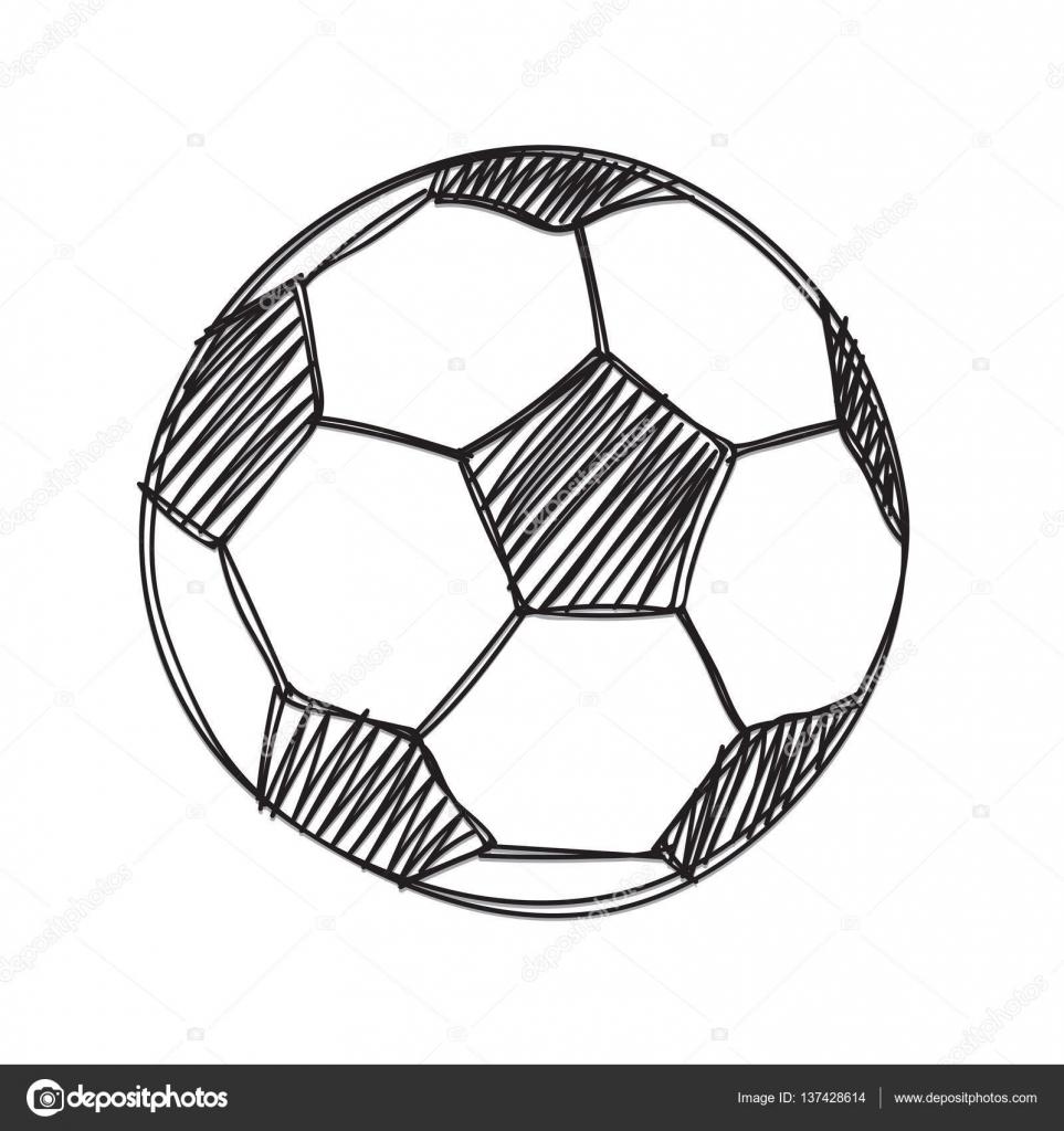 Hand Zu Zeichnen Fussball Ball Stockvektor C Madozi 137428614