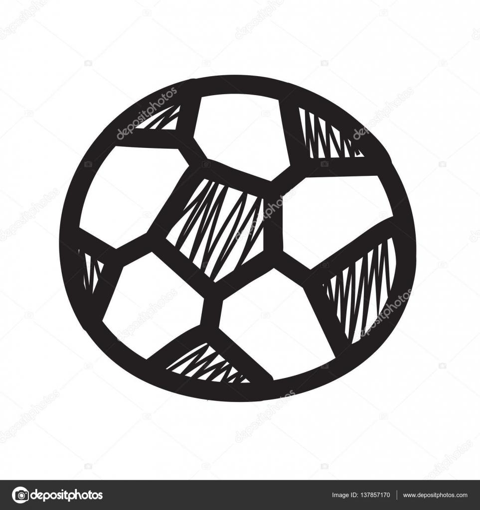 Hand Zu Zeichnen Fussball Ball Stockvektor C Madozi 137857170