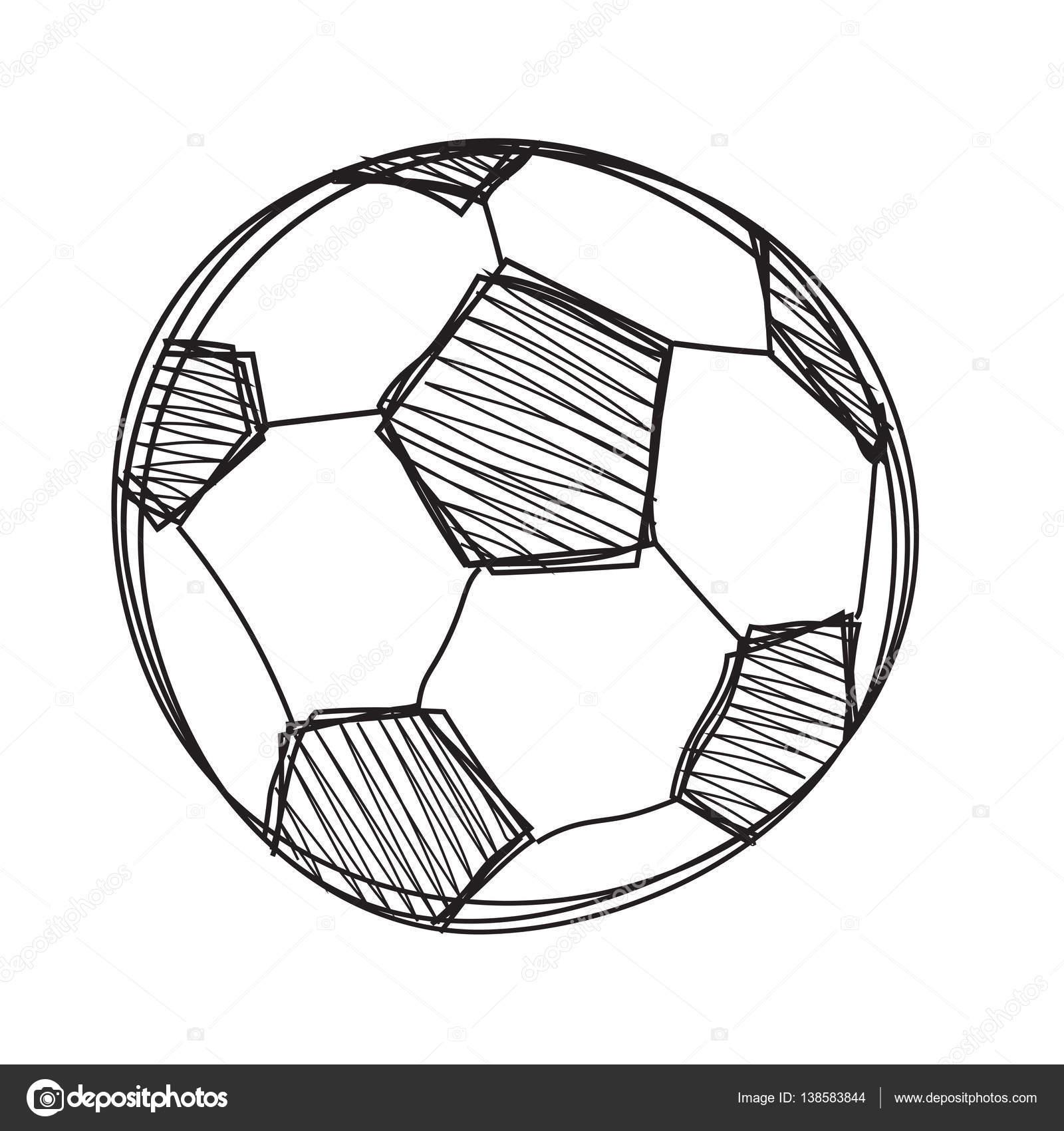 Hand Zu Zeichnen Fussball Ball Stockvektor C Madozi 138583844