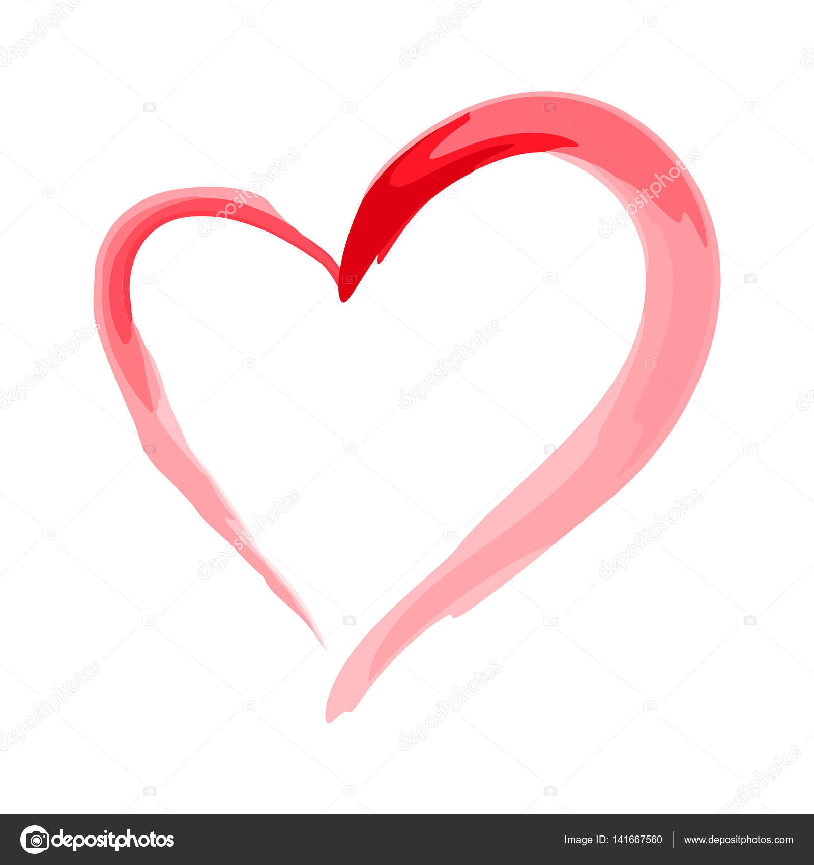 Heart Shape Design For Love Symbols Valentines Day Stock Vector