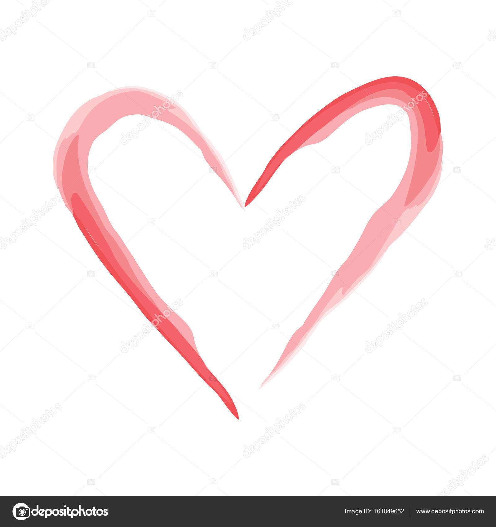 Heart Shape Design For Love Symbols Valentines Day Stock Vector