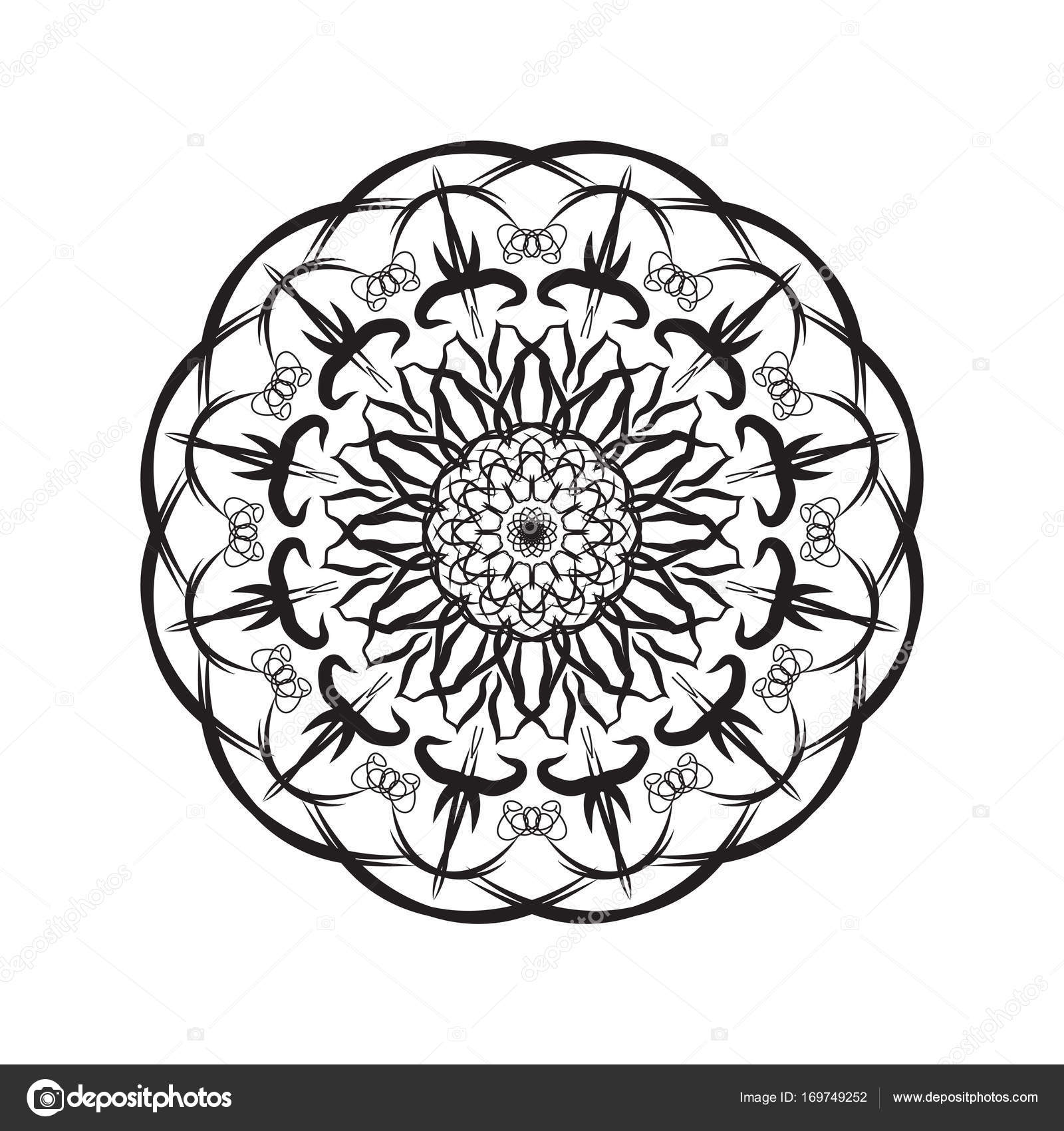Mandala geometrica semplice, fantasia paisley indiano ...   1600 x 1700 jpeg 301kB