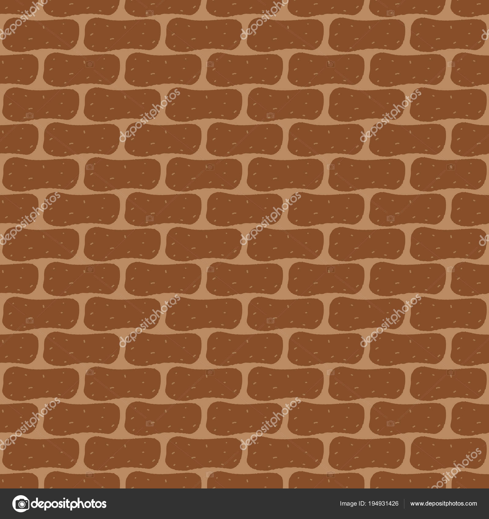 Brick Wall Background Seamless Pattern Stock Vector