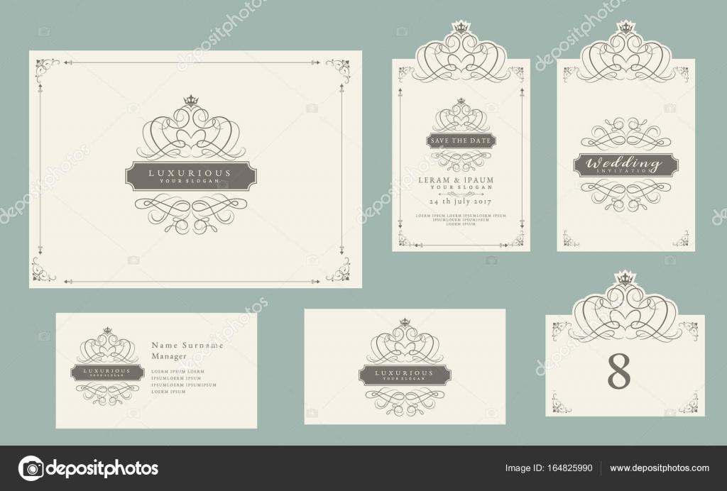 Vintage Schmuck-Set, Zertifikat Rahmen, Visitenkarte, Hochzeit ...