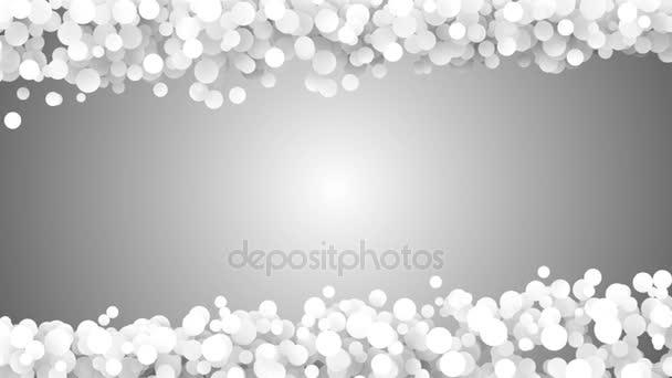 Loopable abstraktní částic světla bokeh kruhy pozadí. Smyčka