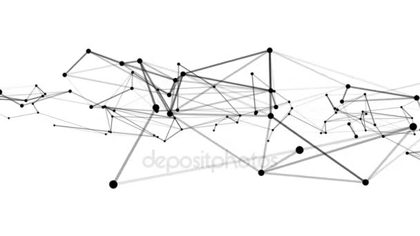 Abstraktní technologie plexus stylové dynamické digitální zázemí. Smyčky