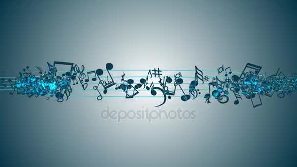 Abstract Background with Colorful Music notes.