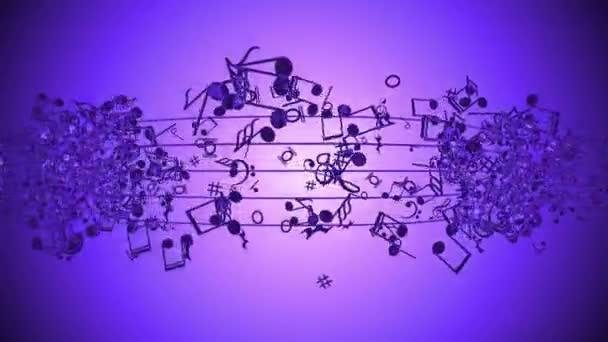 absztrakt háttér színes zenei jegyzetek.