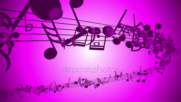 pozadí abstraktní s pestrou hudební poznámky.