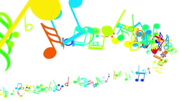 Absztrakt háttér színes zene jegyzetek. Hurok