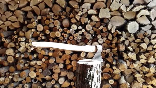 wood and an ax.stack,abstract,