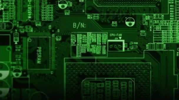 čip je zelená. abstrakce