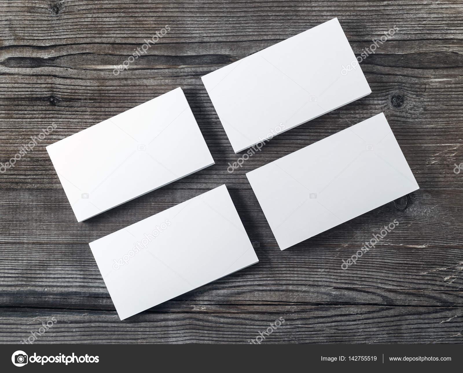 Leere Stapel Von Visitenkarten Stockfoto Veresovich