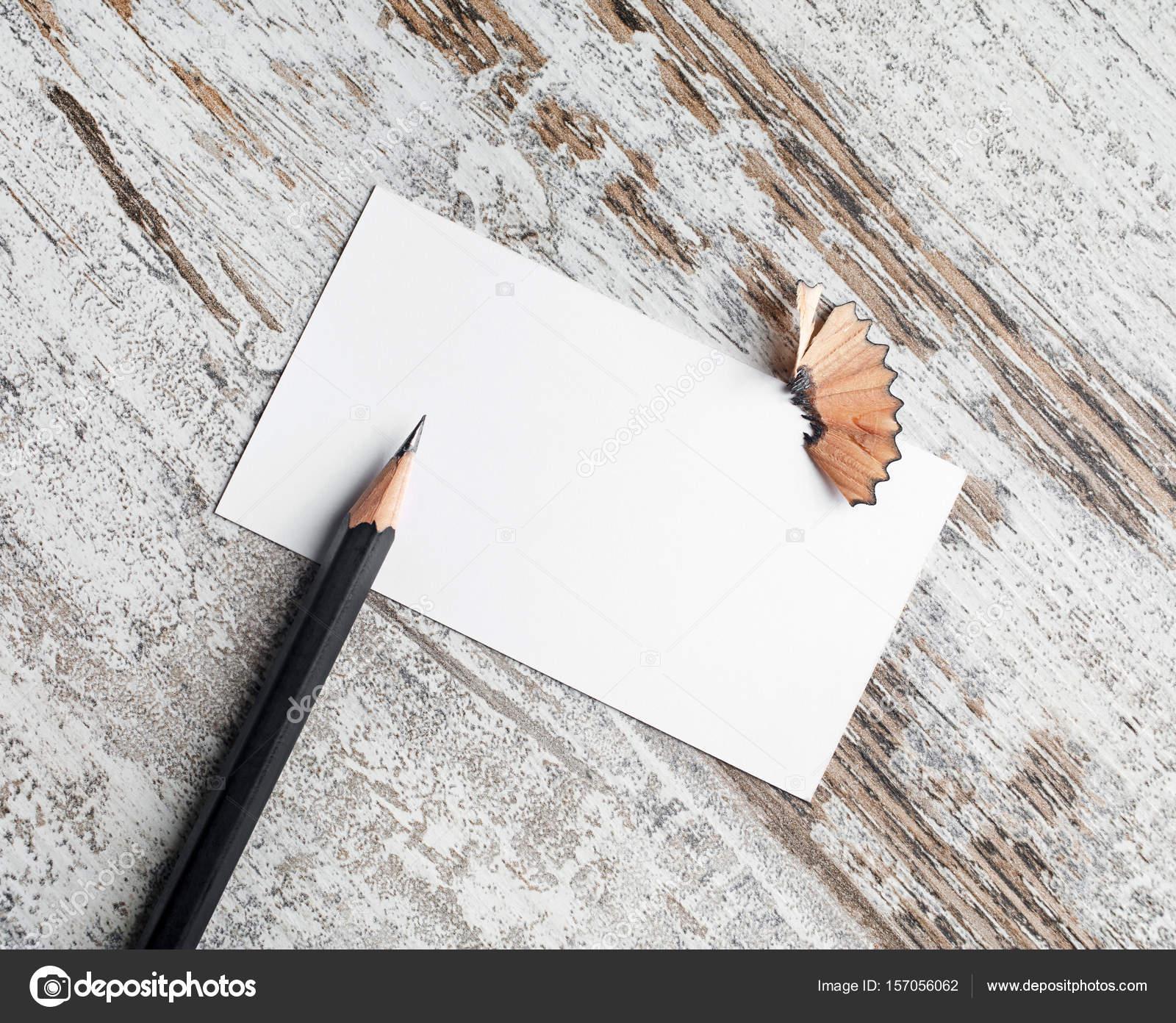 Tarjetas y lápiz — Foto de stock © Veresovich #157056062