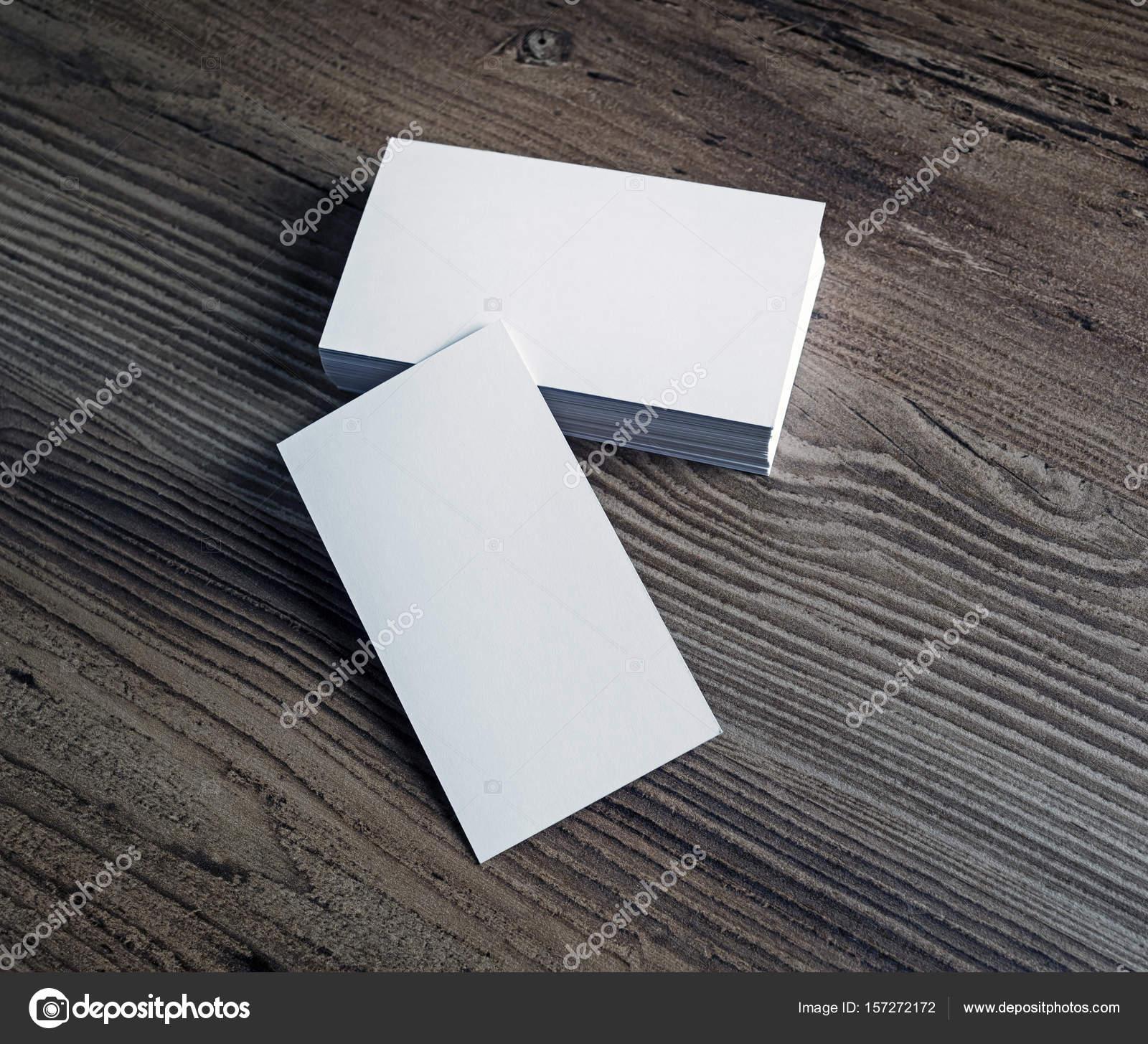 Blank white business cards — Stock Photo © Veresovich #157272172