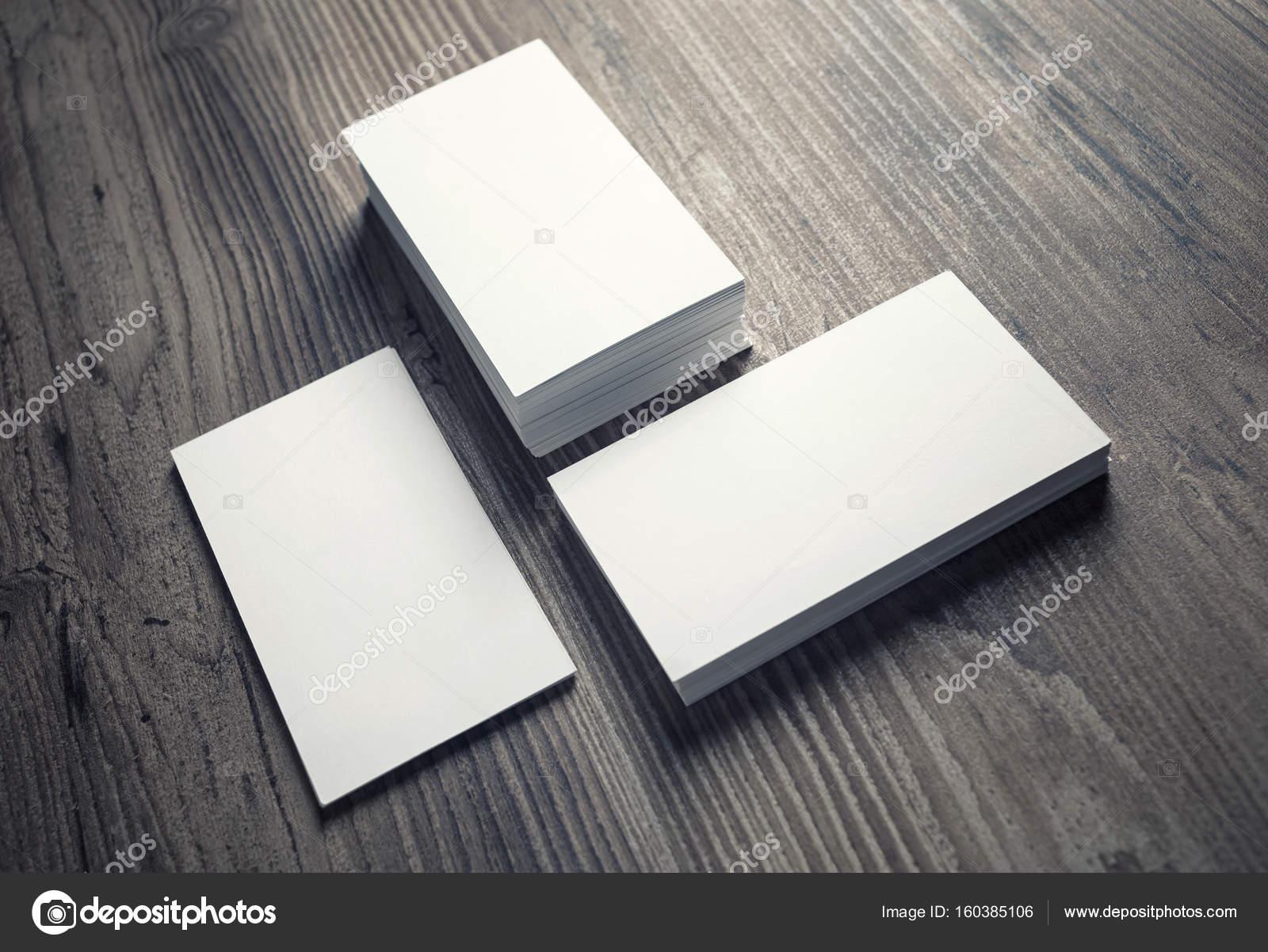 Piles of blank business cards — Stock Photo © Veresovich #160385106