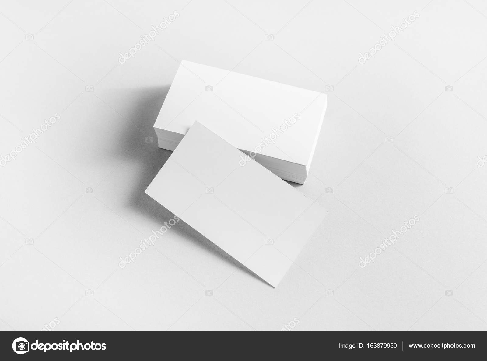 Leere Visitenkarten Stockfoto Veresovich 163879950