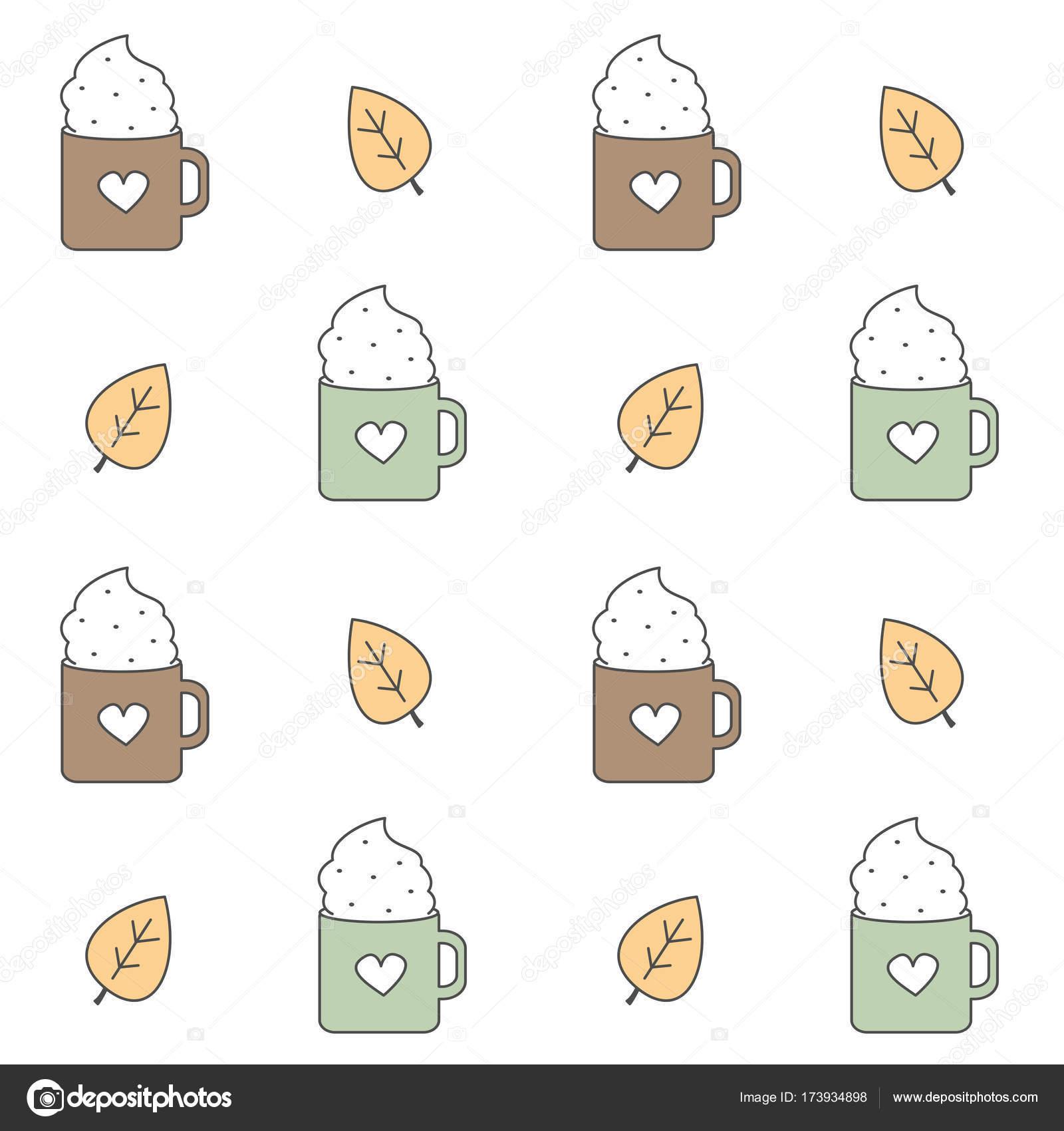 cute dibujos animados encantadora vector patrón fondo ilustración ...