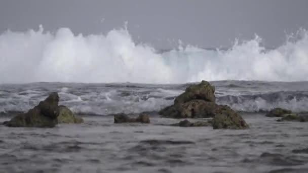 Útesy a velkou vlnu v Indickém oceánu. Maledivy video