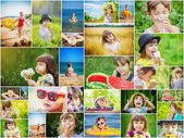 Childrens collage summer photos.