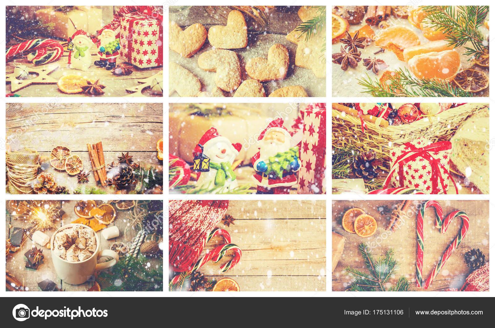 Weihnachtsbilder Italienisch.Collage Von Weihnachtsbilder Stockfoto Yana Komisarenko Yandex