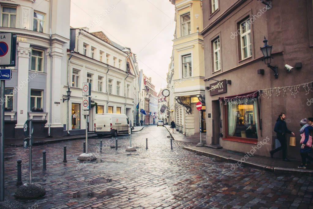 Estonia Tallinn. Selective focus.