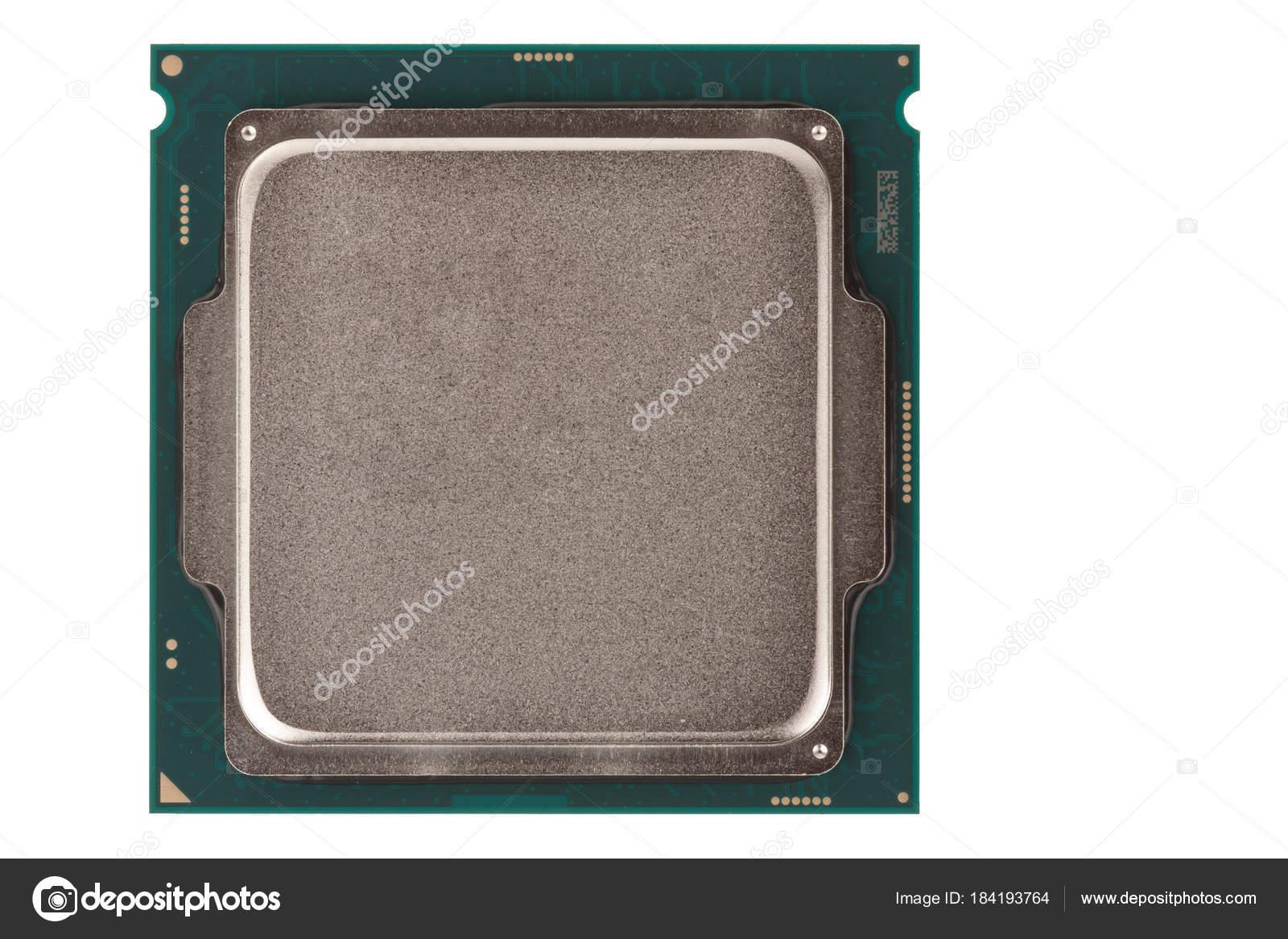 Prozessor Fur Buro Pc Isoliert Auf Weissem Hintergrund Stockfoto