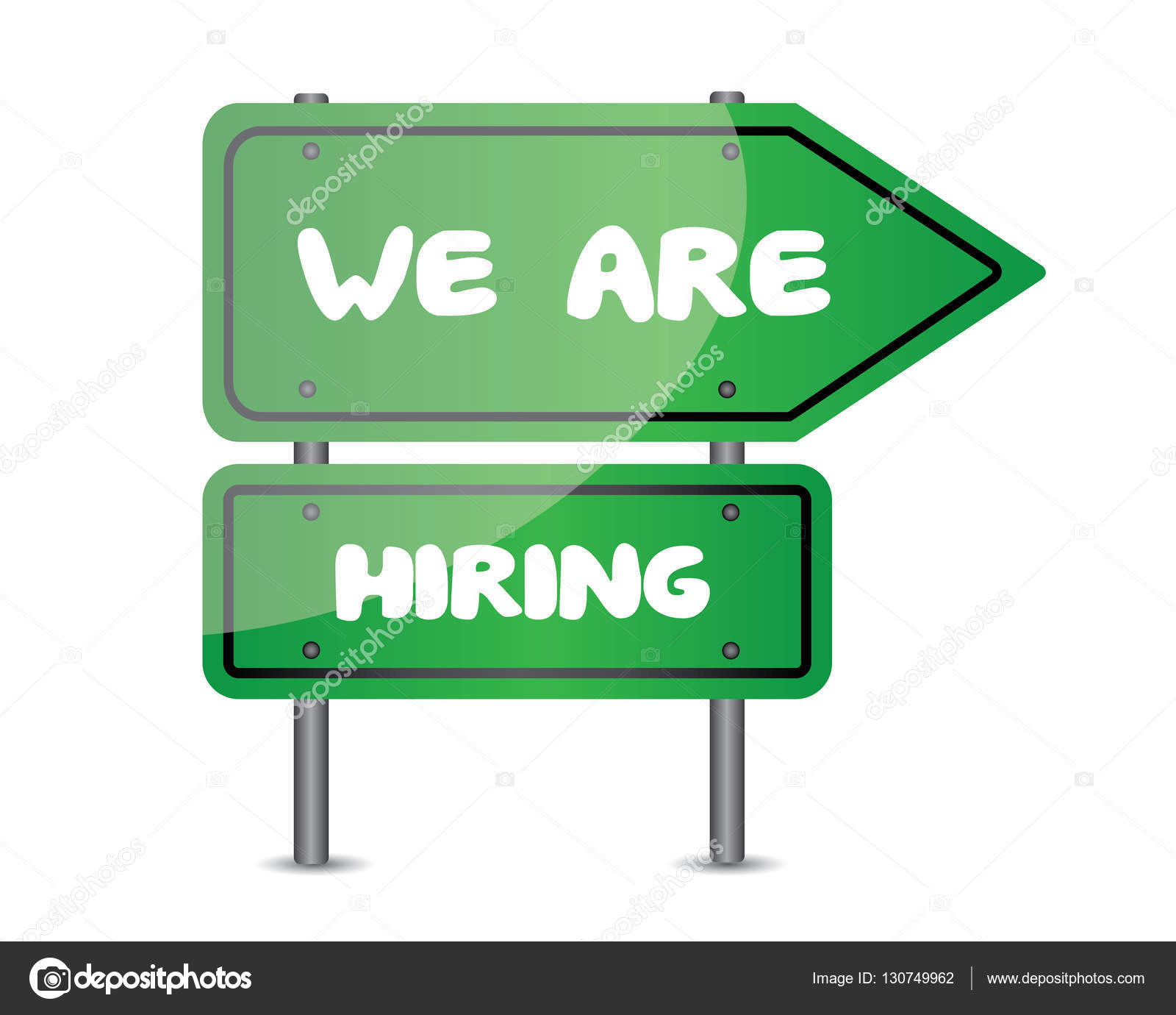 we are hiring signs stock vector rizal99 130749962
