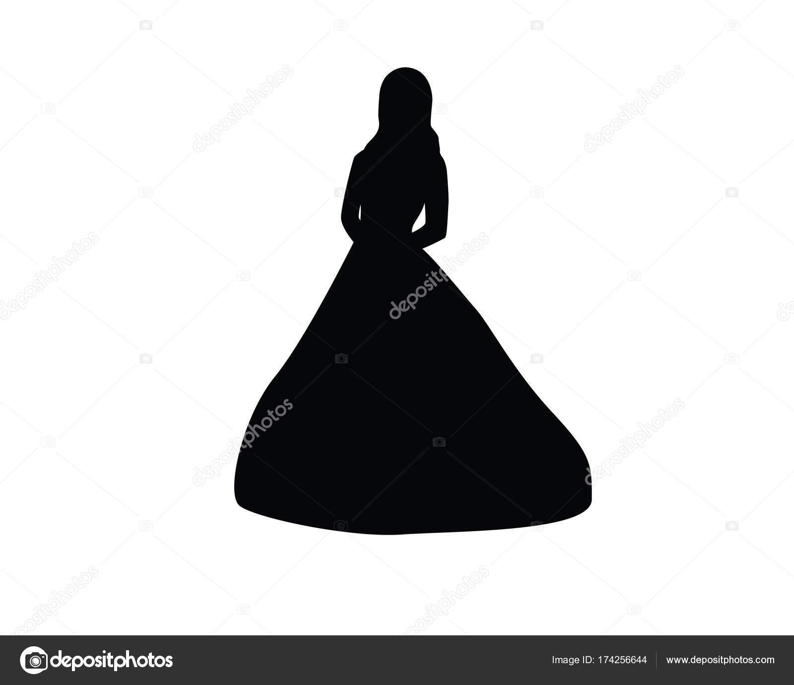 esküvői ruha silhouette nő — Stock Vektor © rizal99  174256644 635f82d985