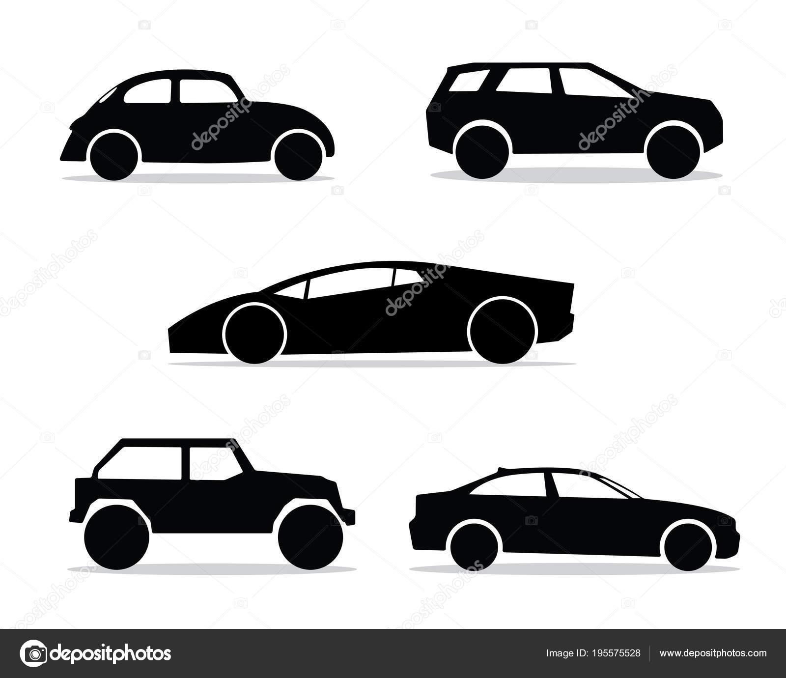 Classic Car Silhouette Symbol Design Stock Vector C Rizal99 195575528