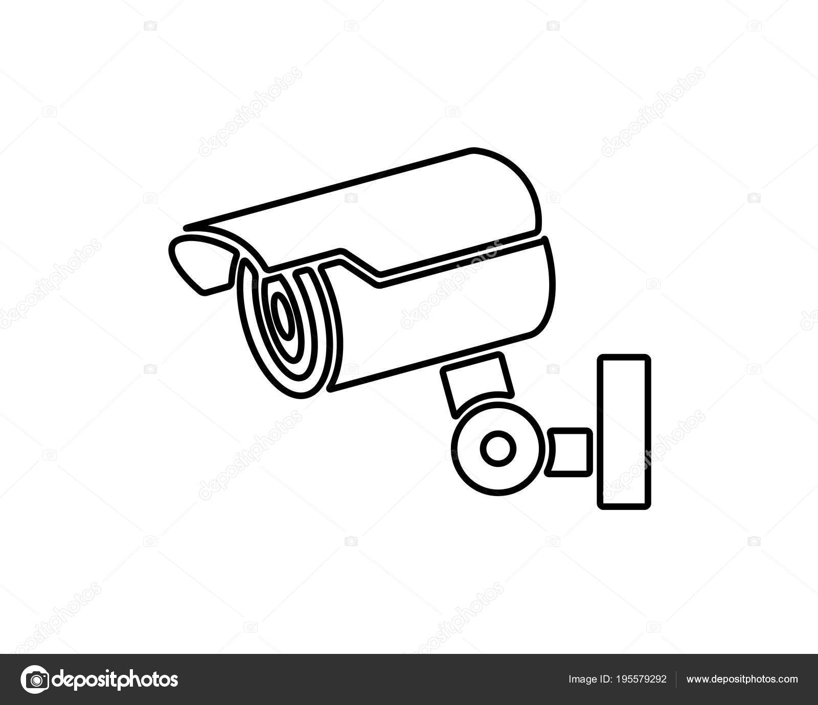 security camera icon design illustration line icon design style Facial Recognition Camera System security camera icon design illustration line icon design style designed for print and web