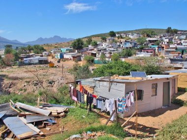 Informal settlement in Western Cape province, South Africa.