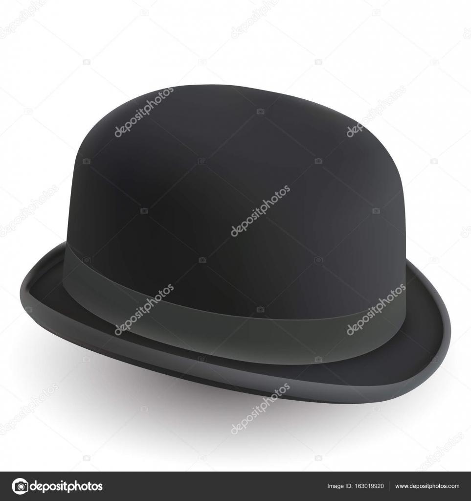 b0f9d077b11 Black bowler hat on white background. Vector illustration.– stock  illustration