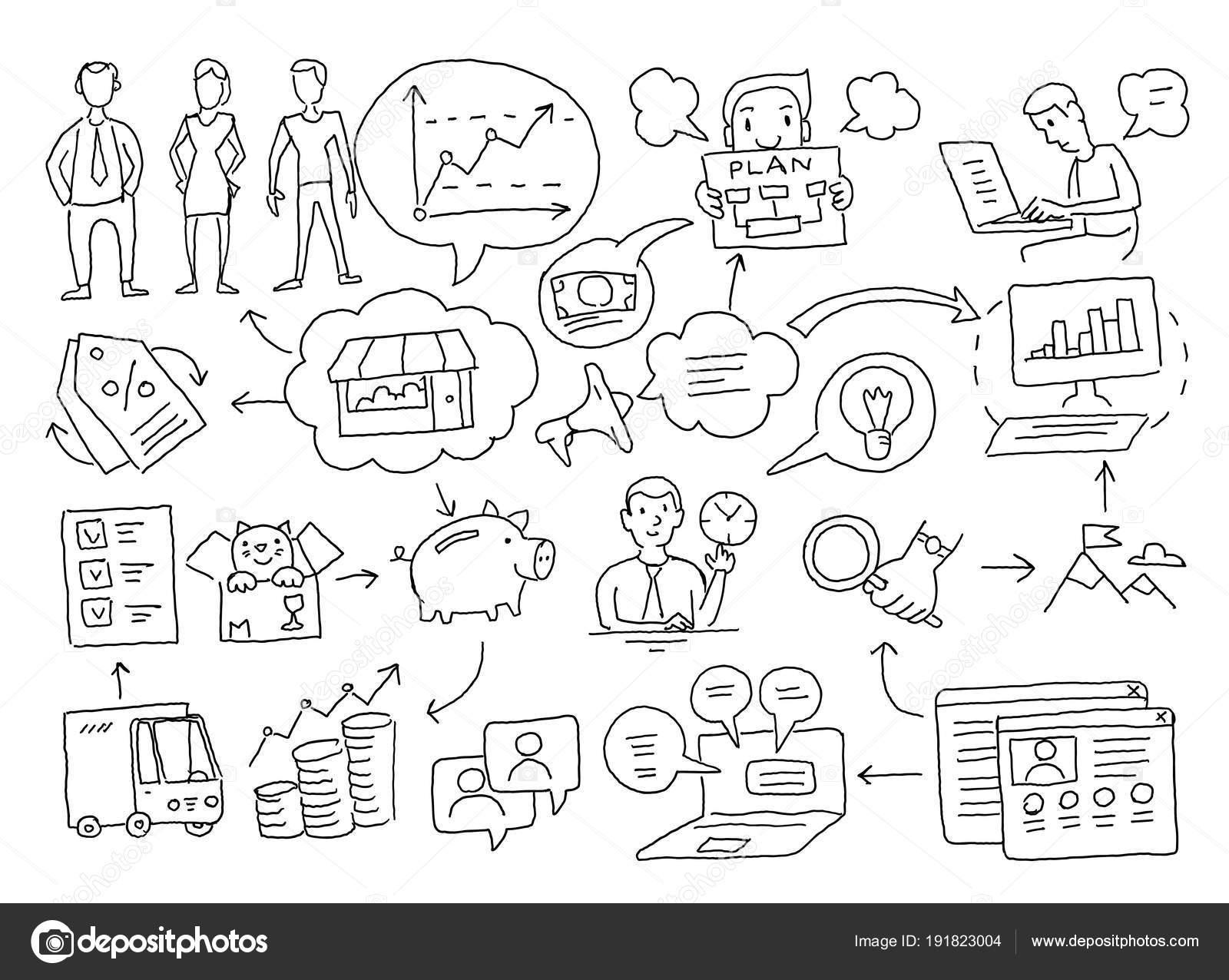 sketch diagram of cases  business plan presentation