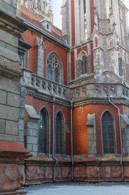 St. Nicholas Roman Catholic Cathedral and the National House. Kiev, Ukraine