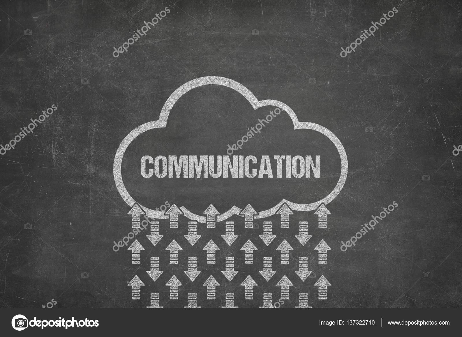 Communication text on blackboard with cloud symbol stock photo communication text on black blackboard with cloud symbol photo by infocrashmedia biocorpaavc Gallery