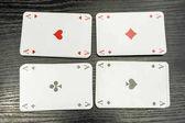 Fényképek Négy ász a kártyapakli