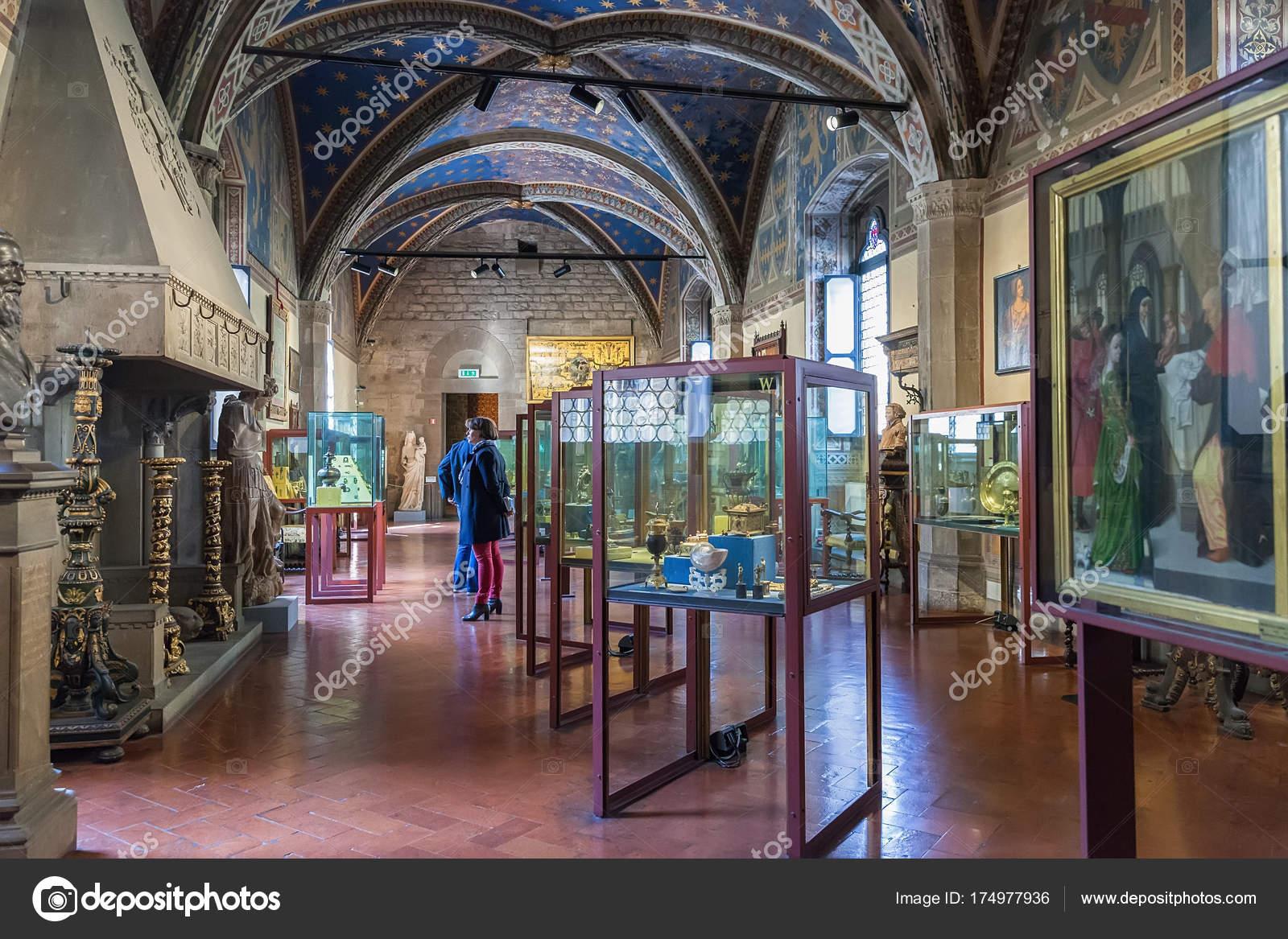 Museo Del Bargello.Interior Of Bargello Also Known As Museo Nazionale Del Bargello